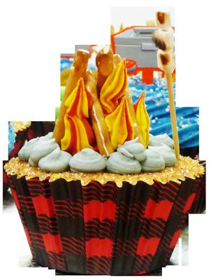 Campfire Cupcake with Mini-Marshmallows